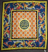 Foulard carré de soie CARMEN BENOLT ? 80 cm x 77 cm VINTAGE