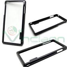 Pellicola display+Bumper Nero per Sony Xperia Z3 cover case TPU protezione nuova