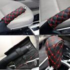 2 Pcs/Set Car Hand Brake Leather Case & Gear Shift Case Interior Accessories