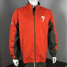 Philadelphia Phillies Red/Gray Full-Zip Jacket/Rain Coat/Windbreaker