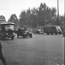PARIS c. 1946 - Autobus Taxi Hotchkiss La Concorde - Négatif 6 x 6 - N6 P30
