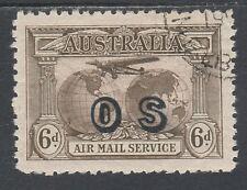 AUSTRALIA 1931 AIRMAIL OS 6D CTO WITH GUM