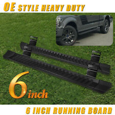 "6"" For 09-14 Ford F150 Super/Ext Cab Side Step Running Board Nerf Bar V Grey"