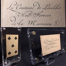 Historic Countess Antique Playing Cards Secondary Use Embossed Painted Single