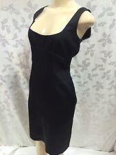 Tahari - Silk Dress - Black - Empire Waist - Scoop Neck - Sleeveless - Sz 8