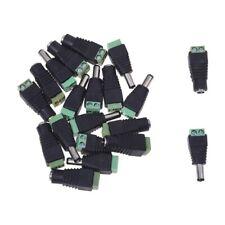 1X(10 paire Adaptateur connecteur Jack Male Femelle DC pour CCTV 2.1x5.5mm X3Z2)