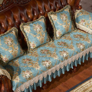 Vintage Chenille Lace Sofa Slipcover Cover 1 2 3 4 Seater Floral Chair Protector