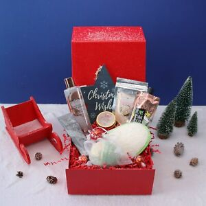 Bath and Body Self Care Christmas Pamper Hamper Gift Box for Her