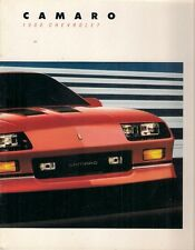 Chevrolet Camaro 1988 USA Market Sales Brochure Sport Coupe IROC-Z Convertible