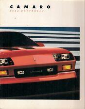 Chevrolet camaro 1988 usa market sales brochure sport coupé IICO-z convertible