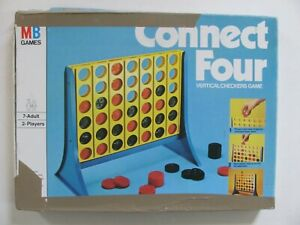 Vintage Milton Bradley Connect Four Vertical Checkers Game 1974 - Complete