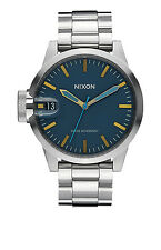 **BRAND NEW** NIXON WATCH THE CHRONICLE 44 NAVY / BRASS A4412076 NIB!