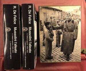 RENZO DE FELICE MUSSOLINI L'ALLEATO COFANETTO EINAUDI 1990 TOMI 1 E 2