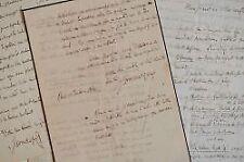 Correspondance de Louis Monmerqué à Jules Desnoyers avec 2 manuscrits.