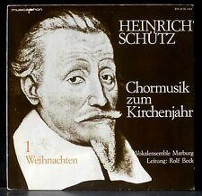 Schütz Chormusik für Kirchenjahr  Volkalensemble Marburg  Rolf Beck 81