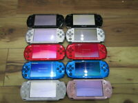 Sony PSP 3000 Lot of 10 Console Black Silver Red Blue White Pink Japan o338