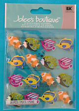 """Jolee's FISH REPEATS 3-D dimensional STICKERS, 16-pieces, 1"""" long"""
