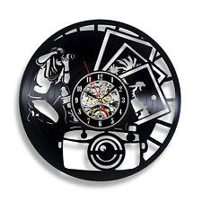 Photographer Wall Vinyl Clock Photo Record Gift Decor Camera Hobby Art Handmade