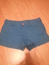 NWOT Victoria's Secret Linen Shorts Size 6 Blue