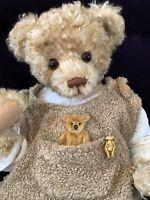 "22"" Mohair Artist Teddy ""Henri"" by Marjolein Vos of Mick Bears- Spectacular RHTF"