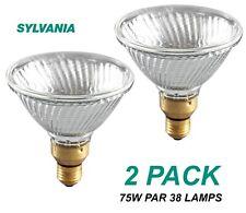 2 x 75W PAR38 Reflector Hi-Spot Light Globes Bulbs Lamps ES Hard Glass Clear 30D