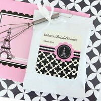 24 Personalized Parisian Paris Theme Lemonade Mix Pouches Wedding Favors