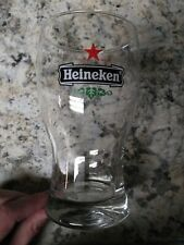 Heineken Red Star Wide Mouth Beer Pint Glass Clear with Logo!