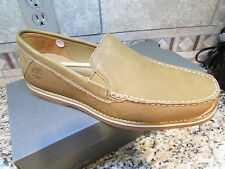 NEW TIMBERLAND VENETIAN BLUFFTON LOAFERS LEATHER SHOES MENS 11 COGNAC/WHEAT