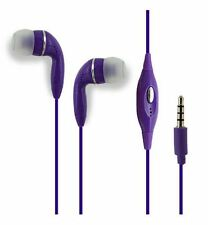 Purple Stereo 3.5mm Handsfree Headset Earbud for Apple iPhone SE 5S 5C