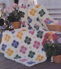 Crochet Pattern ~ GRANNYS SCRAP AFGHAN ~ Instructions