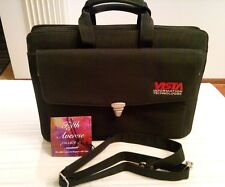 NWT Vista Information Technologies Travelwell Black Soft Brief/Compucase #4174