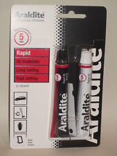 NEUF araldite rapide super fort colle 2 x 15ml tubes rouge