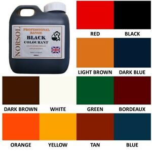 NORSOL Professional Leather colourant, pigment paint recolour dye, 100ml