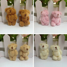 4.5cm Long Wool Plush Lovely Mini Joint Bare Teddy Bear Bouquet 4Color 12PC/pack