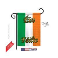 Breeze Decor 58072 Ireland 2-Sided Impression Garden Flag - 13 x 18.5 in.