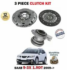 FOR SAAB 9-3X 1.9 TTID 180BHP 2009-> CLUTCH KIT PLATE COVER SLAVE CYLINDER