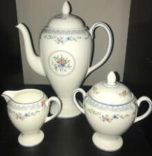 Wedgwood Rosedale China R4665 Coffee Pot Creamer and Sugar Tea Set Mint