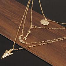 Bib Pendant Chain Necklace Charm Jewelry Multilayer Choker Chunky Statement New