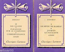 Oeuvres choisies / T: I-II // Classiques Larousse // Denis DIDEROT // Extraits