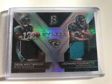 2017 Panini Spectra #5 Synced  Dede Westbrook, Leonard Fournette RC, Relic, JAGS