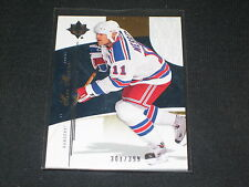 MARK MESSIER RANGERS HOF STAR GENUINE AUTHENTIC LIMITED EDITION HOCKEY CARD /399