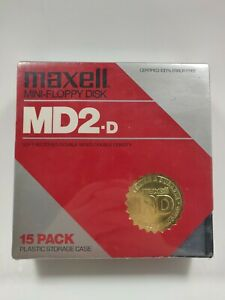 Maxell Mini-Floppy Disk MD2-D 15 Pack New and Sealed