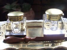 ANTIQUE ENGLISH  DOUBLE INKWELL