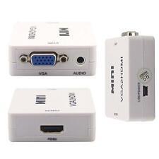 1080P Audio VGA Pour Video Converter HDMI HD HDTV Box adaptateur pour PC FQ