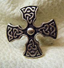 Auffällige Ziernieten Druiden Celten Kreuz Ritter Mittelalter Farbe Altsilber