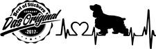 Cocker-Spaniel Herzschlag Aufkleber ca182x84mm Hund Sticker Tuning Dog v.Farben