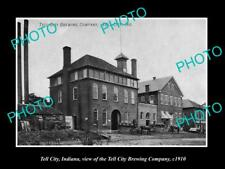 OLD 8x6 HISTORIC PHOTO OF TELL CITY INDIANA, VIEW OF TELL CITY BREWERY c1910