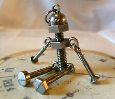 Pocket Watch Chain Fob Steel Screw Robot Articulated