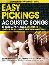 Easy Pickings Acoustic Songs Guitar TAB Sheet Music Book. Learn How To Play New