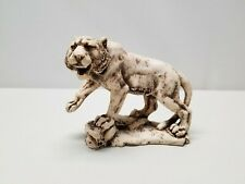 Tiger Sculpture Art Hand Made Fishbone Carving